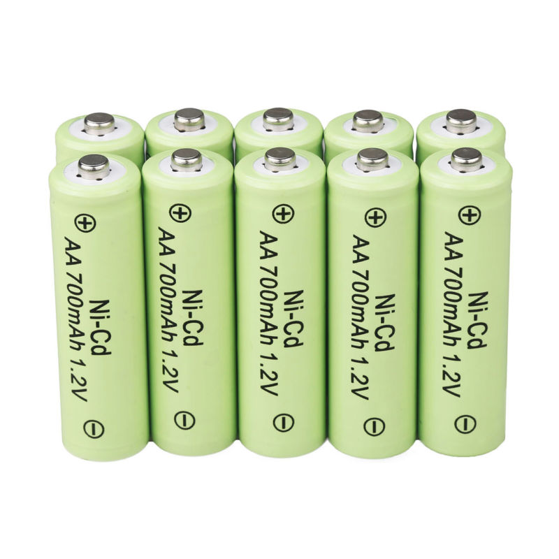 AA Rechargeable Batteries NiCd 700mAh 1.2v Garden Solar Ni-Cd Light LED EAS
