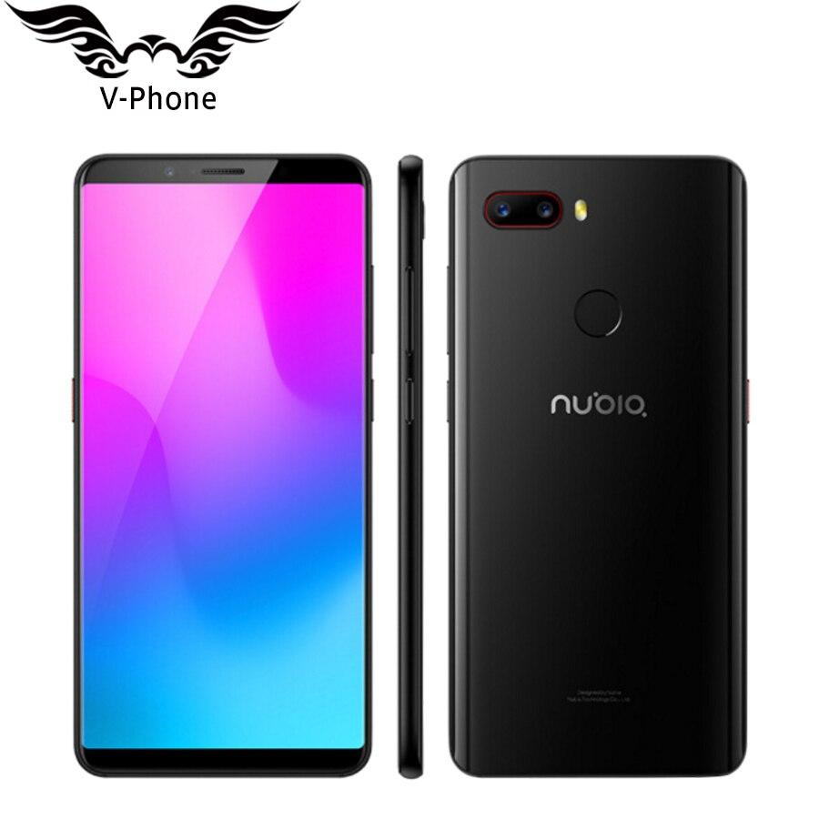 2018 D'origine ZTE Nubia Z18 mini Mobile téléphone 5.7 6 gb RAM 128 gb ROM 2160x1080 Octa core 24MP Double Arrière Caméra FHD Plein Écran