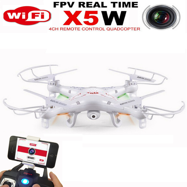 RC Helicopter SYMA X5W Quadcopter Remote Rontrol Drone With Real-image Transmission wifi Camera