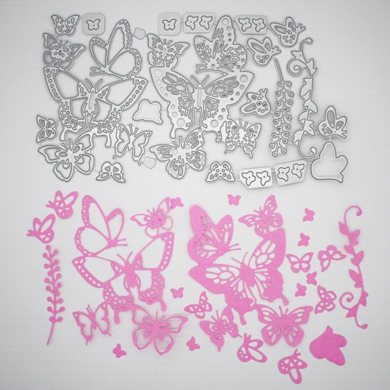 Nova Chegada Linda Borboleta Corte Morre Stencil DIY Scrapbooking Álbum de fotos Em Relevo Cartão de Papel Decoração Artesanato 218x127mm