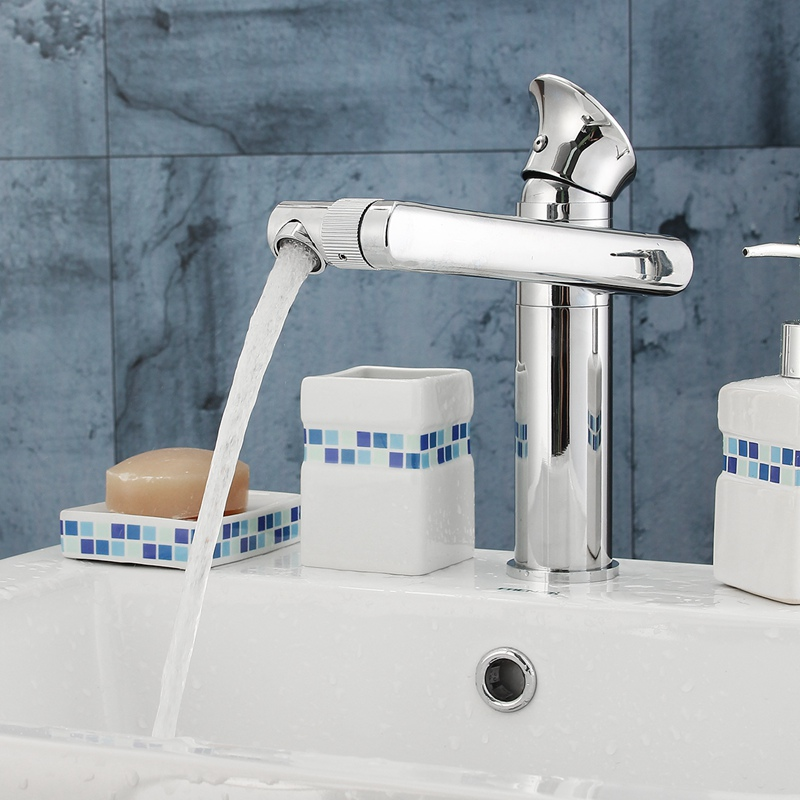 Long Neck Type Bathroom Bathtub Basin Sink Mixer Tap Cleansing Faucet Chrome Rotation Spout Bathtub Shower Faucet With Hoses fie new shower faucet set bathroom faucet chrome finish mixer tap handheld shower basin faucet