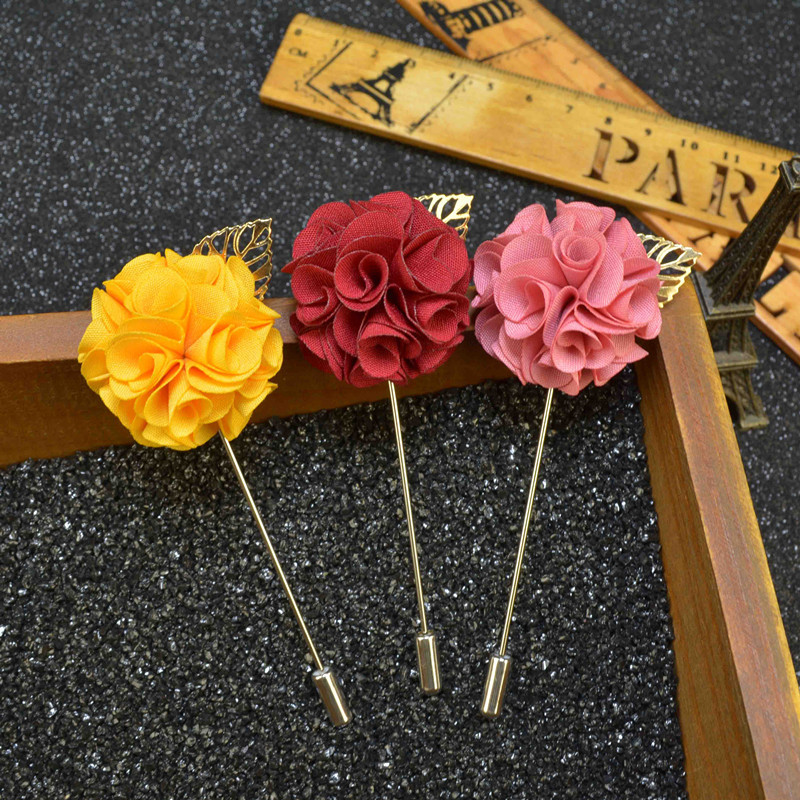 9 pcs lot 100 Original Brand Handmade Mens Lapel Flower Pin Lapel Stick Pins Wedding Business Suit Decoration Boutonniere Pins in Brooches from Jewelry Accessories