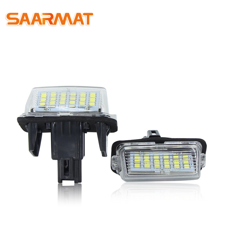 LED License Plate Light Base Bulb For Toyota COROLLA 5D-NZE161 12.04~,PRIUS C-NHP10 11.12~,RACTIS-NCP120 10.11~ Car Number Bulbs