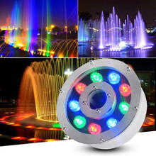 Led Fountain Light 6W 9W 12W 18W Pool AC12-24V DC12V Underwater Lights Outdoor Fountains Waterproof IP68 RGB Lamp