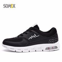 Somix Brand Men S Running Shoes Breathable Air Cushion Damping Outdoor Sport Sneakers For Men Comfortable