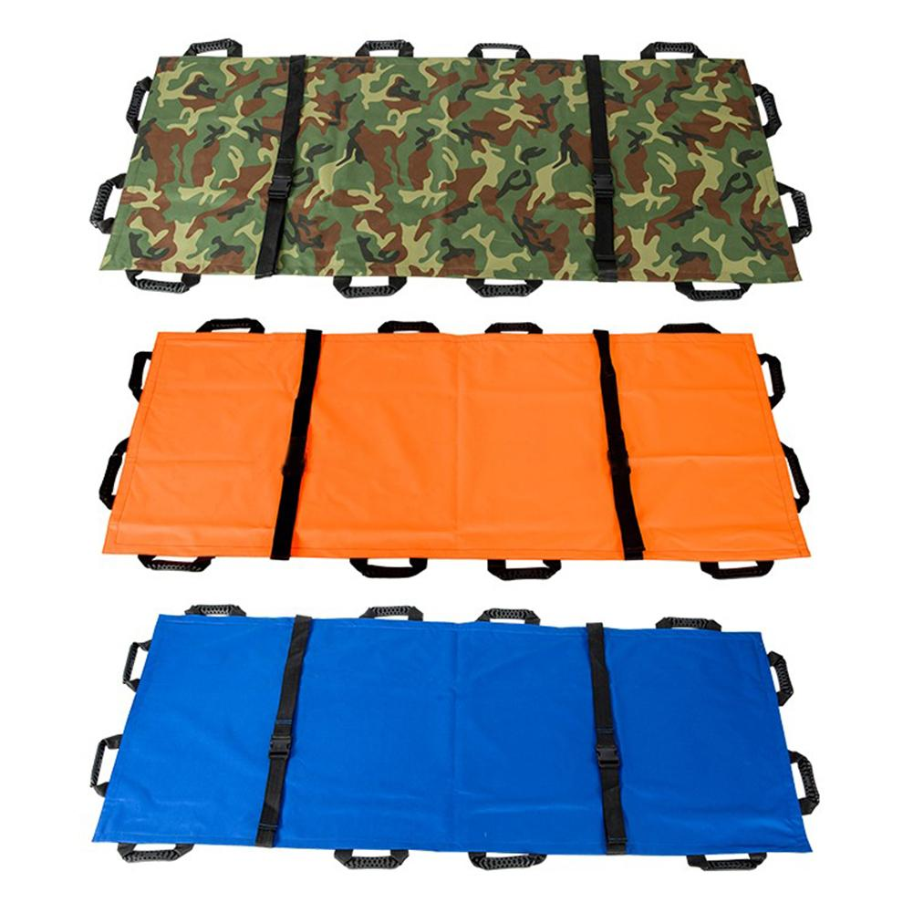 Thickened Canvas 12 Handles Soft Folding First Aid Stretcher Portable Emergency Stretcher Home Medical Stretcher With Handbag