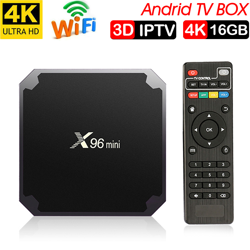 Xinways Amlogic S905W X96 Mini 2g/16g Android 7.1.2 Quad Core Soutien 4 k Android tv box
