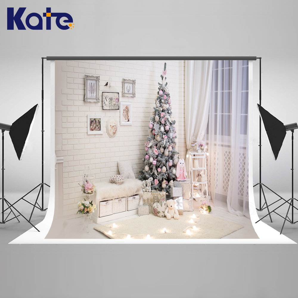 Kate White Family Photo Backgrounds Christmas With Window Curtains ...