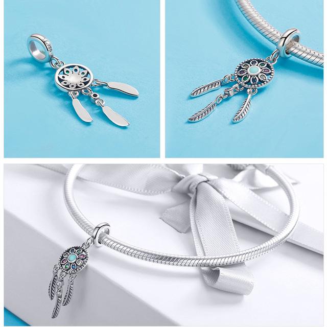 925 Sterling Silver Charms Fit original Pandora Bracelets Necklaces Secret Planet Moon Star Pendant Blue Ename Jewelry