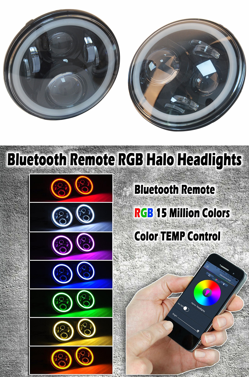 Automobiles & Motorcycles Clever Dot Rgb60w 7inch 883 Led Headlight Projector For Ultra Classic Electra Glide Street Glide Fat Boy Road King Reputation First