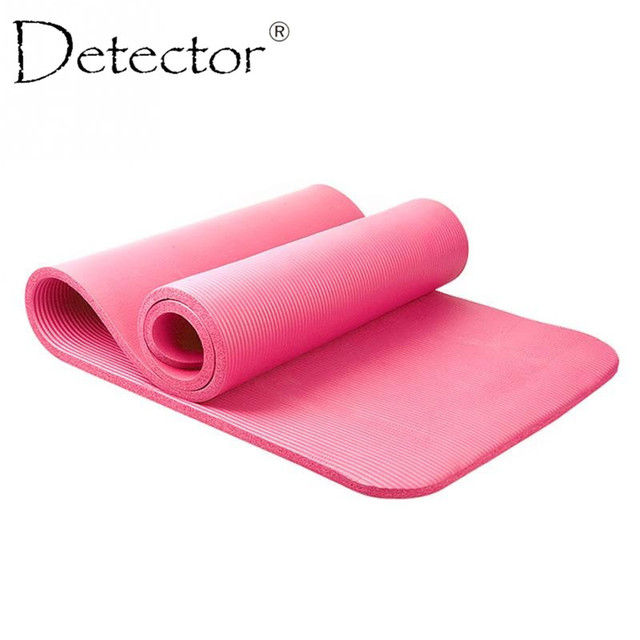Detector 10mm Thick exercise Yoga Mat Pad Non-Slip Lose Weight Exercise Fitness folding gymnastics mat for fitness
