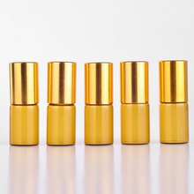 10 Pieces/Lot 3ML Portable Glass Refillable Perfume Bottle With Roll On Empty Essential Oils Case For Travele