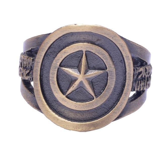 Кольцо с логотипом Капитана Америки Марвел 1
