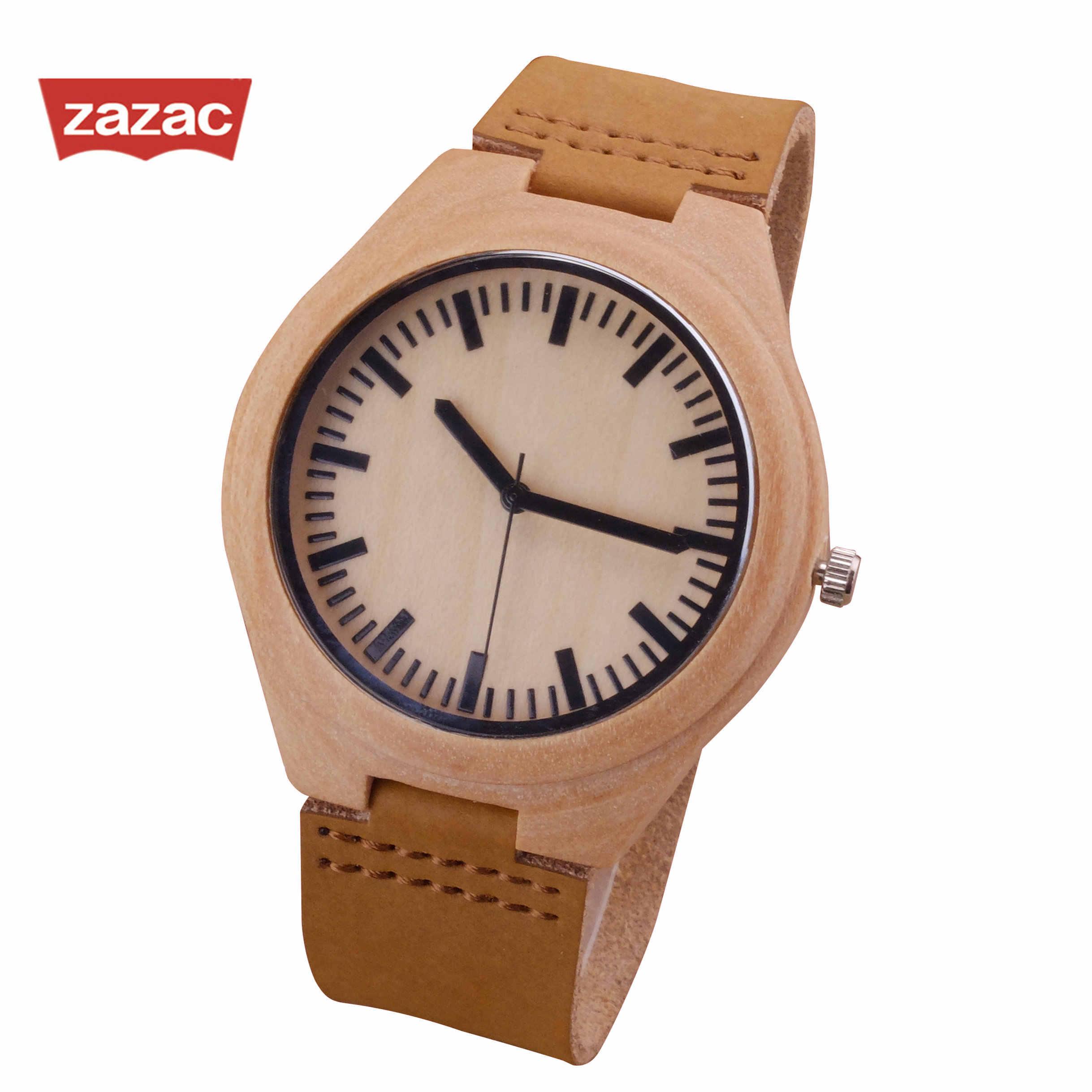 2017 nouveau haut à la mode marque de mode classique bracelet en cuir véritable bambou en bois montre décontracté bois pour hommes femmes cadeaux de noël