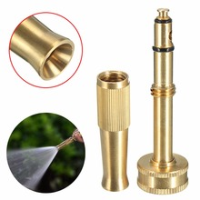 1pc High Pressure Hose Spray Nozzle Adjustable Brass Spray Head Water Hose Nozzle Sprayer for Car Wash Watering Flower sprayer charging nano spray water meter adjustable rotary nozzle head moisturizing hairdressing easy to use