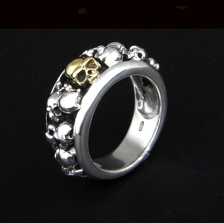 S925 bijoux en argent Wrapper doigt anneaux individuels Index doigt Chao hommes importés bijoux en argent fait à la main délicate bague Chao