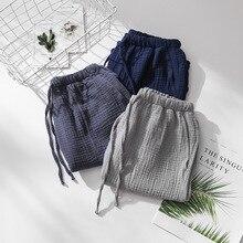 2019 New Sleep Shorts Men Pijama Pants Summer Cotton Pyjamas Lounge Sleeping Trousers Mens Pyjama Bottoms Fdfklak