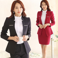 2015 Temperament Wear Women S Plus Size Suits Fall Winter OL 4 Piece Set Dress Top