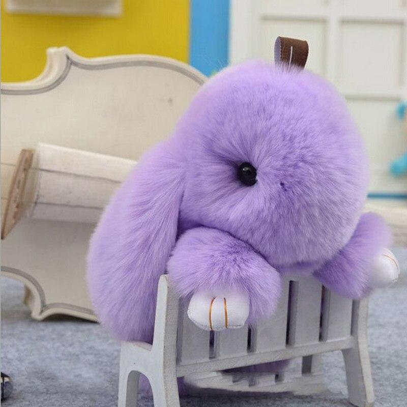 Pompom 18cm Big Rabbit Cute Imitation Fur Keychain Pendant Holder For Women 21c6a9fd4