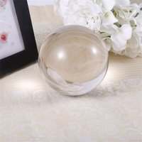 New 40mm 50mm 60mm 80mm 100mm Clear Round Glass Artificial Crystal Healing Ball Sphere Decoration P20 3