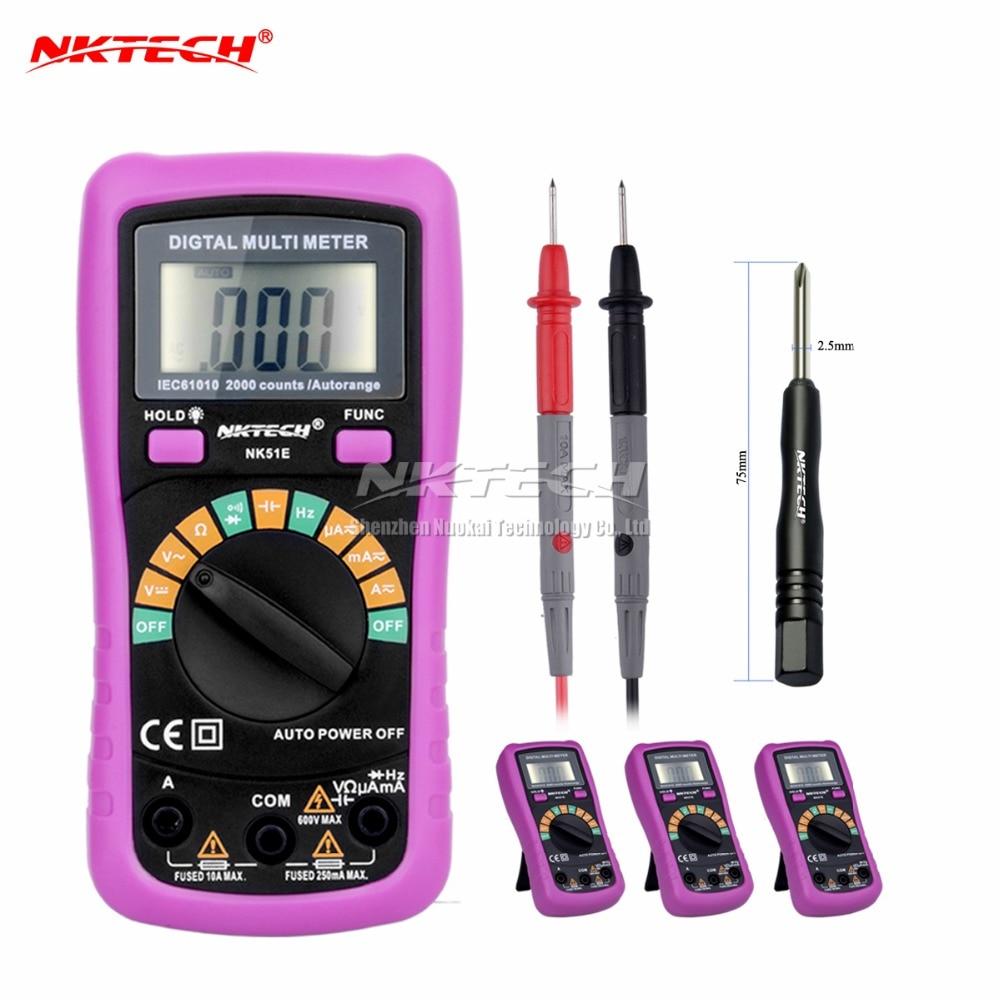 4pcs NK51E Multimeter VS MS8233D With 2000uF Capacitance and Frequncy Measurement Auto Range Digital Multimeter ua6013l auto range digital multimeter with low price
