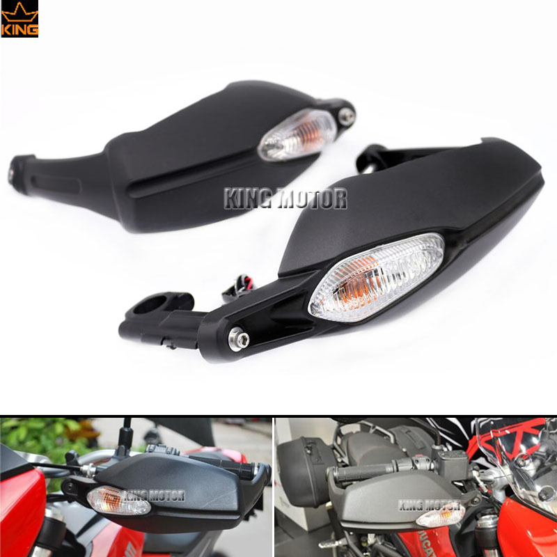 For DUCATI Hypermotard 796 820 1100 Evo Hyperstrada 821 Brake Clutch Side Handlebar Protector with Turn