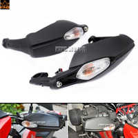 For DUCATI Hypermotard 820/Hyperstrada 821 2013 2015 Brake Clutch Side Handlebar HandGuard Protector with Turn Signal Light Lamp