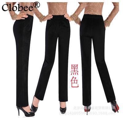women jeans trousers 2017 plus size oversized solid corduroy women