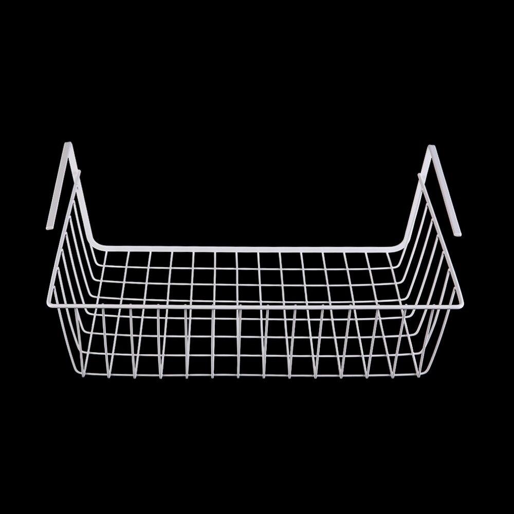 1 pcs New Kitchen Under Shelf Storage Basket Lightweight Metal Organiser Rack