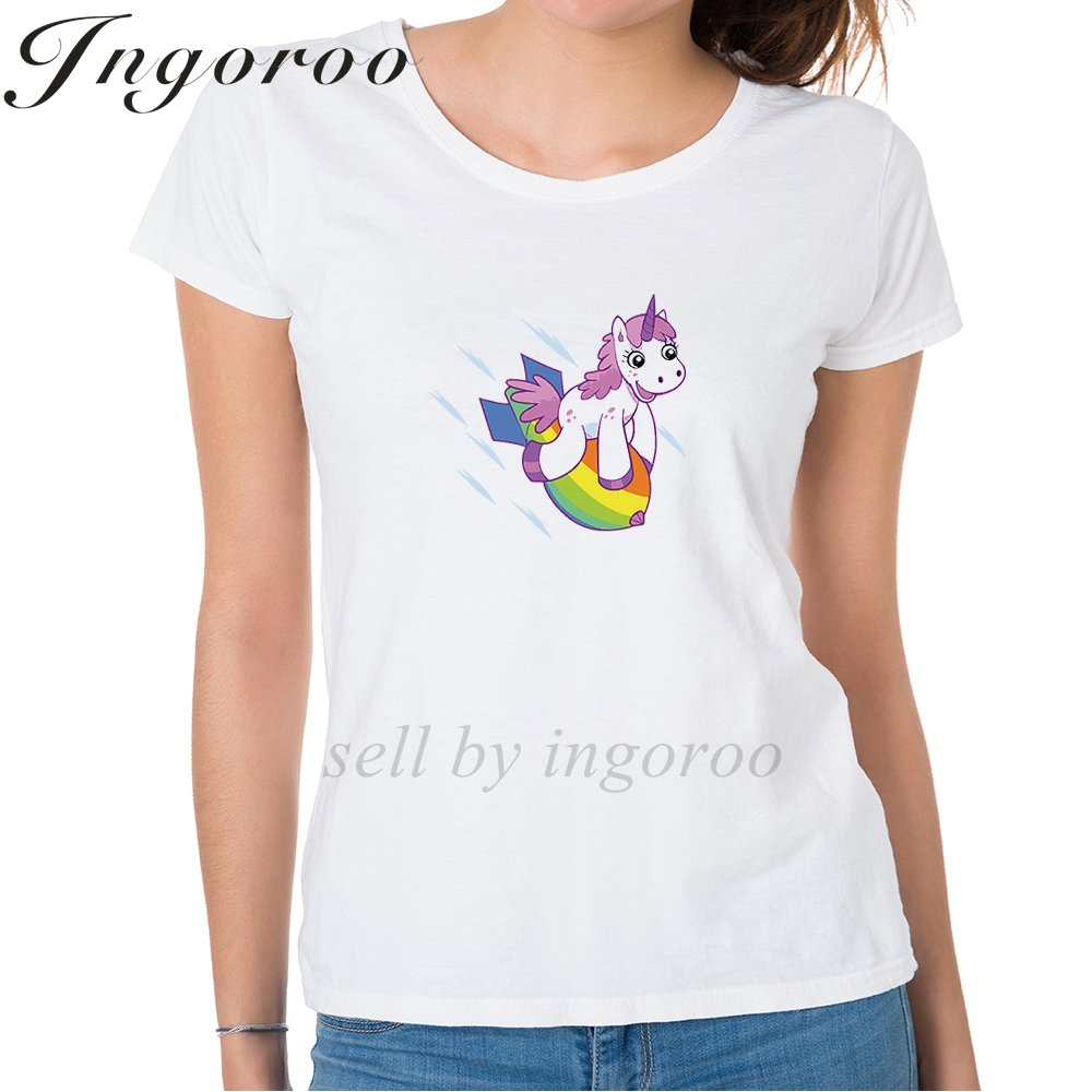 Smart Babaseal Unicorn On Rainbow Bomb Fashion Brand Wonder Woman Shirt Tumblr Tops Hipster Tshirt Top Brand American Flag Shorts Superior Materials Tops & Tees T-shirts