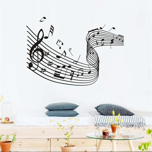 nursery removable vinyl waterproof wallpaper music art home decor