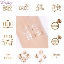 FENGRISE Team Bride Tattoo Stickers Bachelorette Party Temporary Hen Bridal Shower Wedding Favors And Gifts