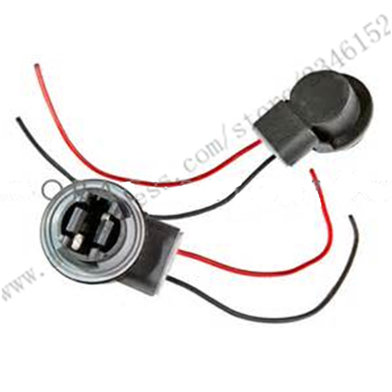 Brake Turn Signal Light Socket Harness Wires LED Pig Tail Plug LED Bulbs Wire Adapters Sockets brake turn signal light socket harness wires led pig tail plug led