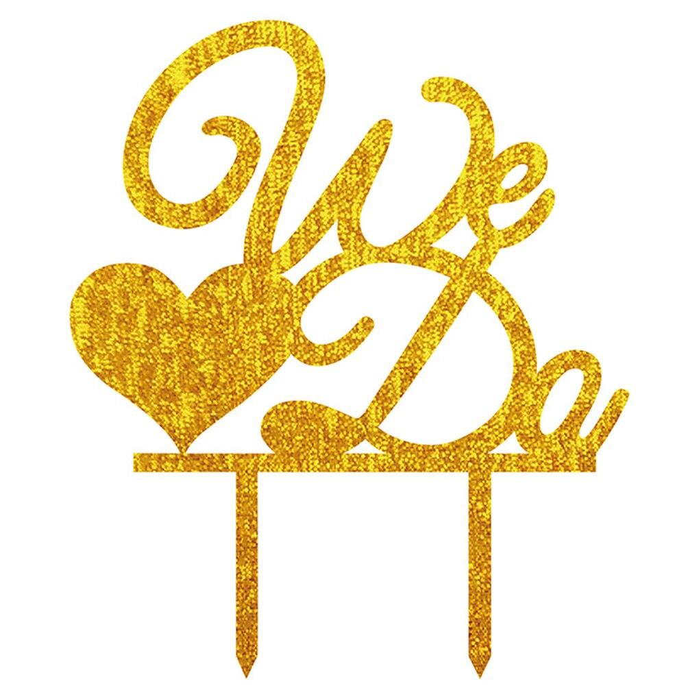 We Do Monogram Acrylic Wedding Cupcake Cake Topper Party Decoration ...