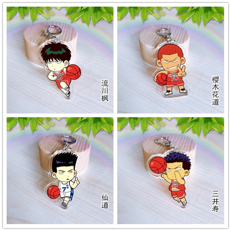 Japan Anime SLAM DUNK Hanamichi Sakuragi Acrylic Key Ring Pendant Keychain Gift