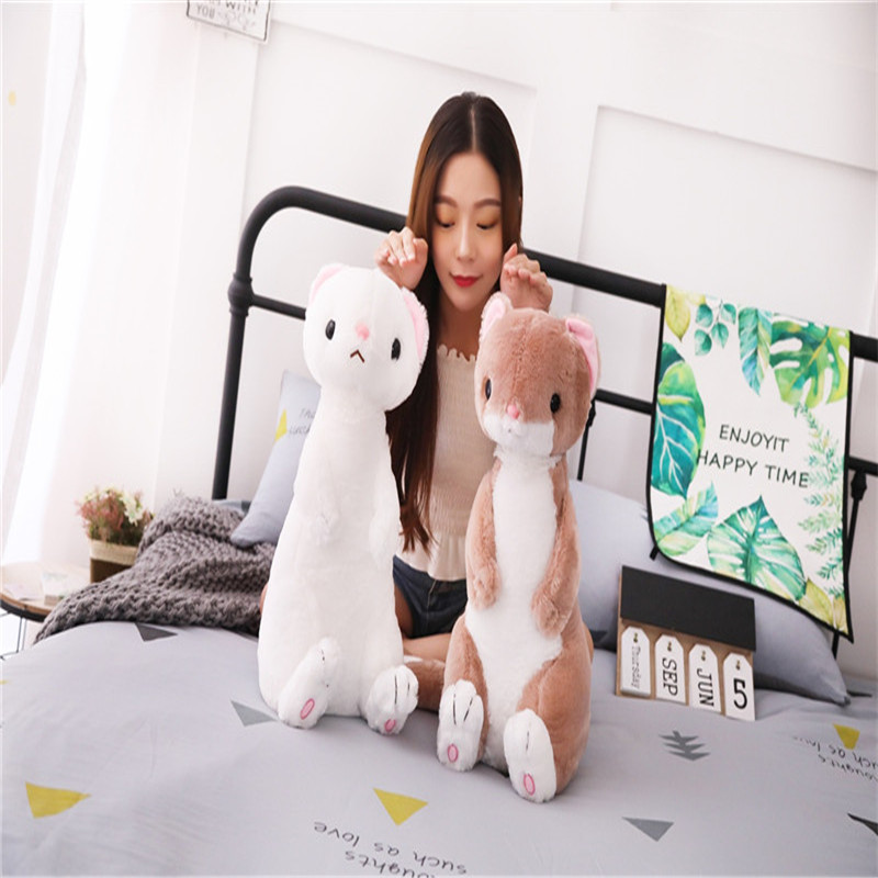 50cm Lovely Ferrets Plush Toy Cartoon Mustela Putorius Furo Dolls Simulation Animals Children Kids Birthday Gift