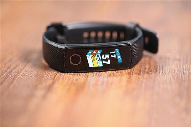 Original Honor banda 4 pulsera inteligente 50 m impermeable rastreador de ejercicios pantalla táctil del Monitor de ritmo cardíaco pantalla llamada mensaje mostrar - 3