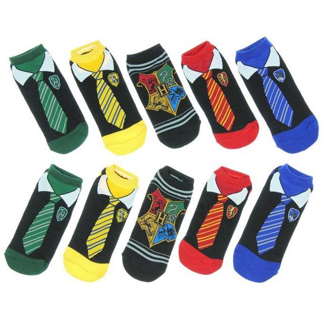 Harry Potter Hogwarts Houses Themed Cotton Socks