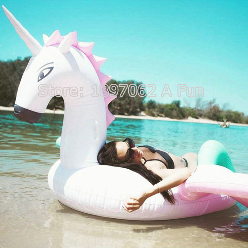 240cm Coloful inflatable Unicorn Pegasus Giant Pool Swimming Float for Adult Tube Raft Swim Ring Summer Water Fun Pool Party Toy funny summer inflatable water games inflatable bounce water slide with stairs and blowers
