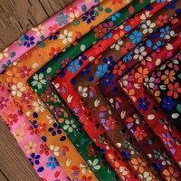 CF448 100x75cm 8colors Colorful Florals Silk Brocade Fabric Cheongsam Clothing Pillow Cushion Jacquard Fabrics DIY Materials