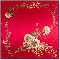 Женщины Шелковый Шарф Китайский Красная Роза Милая Печати Шарфы Банданы Платок летом шарф платки шейный платок