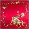 Las mujeres de la Bufanda de Seda Chino Rose Red Sweetheart Imprimir Bufandas Pañuelos Pañuelo verano bufanda foulard pañuelo cuadrado