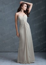 Free Shipping Made To Order Sheath Sweetheart Neckline Floor Length Flowy Chiffon Summer Bridesmaid Dresses BD064
