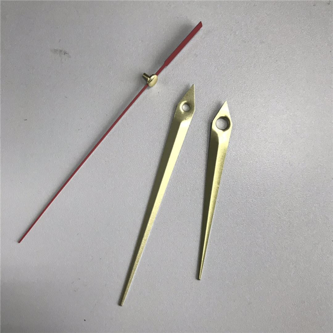 100sets Hot sale Colorful Hands DIY Quartz Wall Clock pointers Repair Replacement parts gold silver black metal clock needles in Wall Clocks from Home Garden