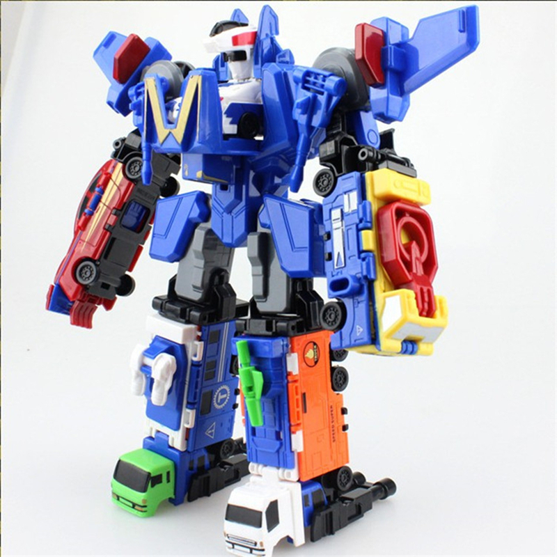 Toys For 6 : Big transformation robot cars assembly deformation in