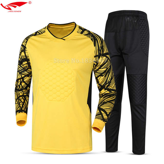 17e84626c placeholder 2018 Men goalkeeper uniforms Long Sleeve High Quality Soccer  Goalkeeper kits outfit Jerseys for Adult Goalkeeper