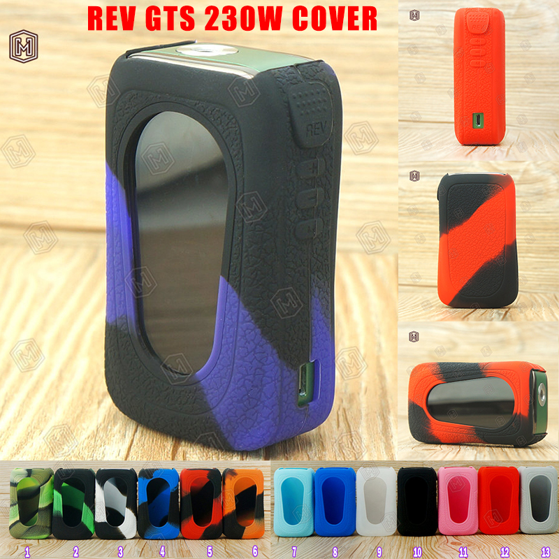 1pc silicone case for REV GTS 230W silicone case Vape thicker skin tactile and tough cover only For VapeVaping E-Cig