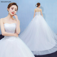 White Sweetheart Ball Gown Tulle Sexy New Style Lace up Wedding dresses 2019 Bridal dress Bride Dress