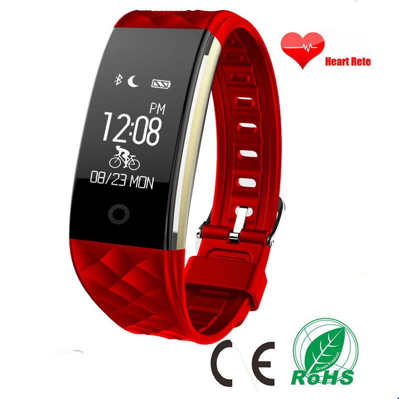 Newest S2 Bluetooth Smart Band Heart Rate Fitness Tracker remote camera call reminder smartband Wristband For