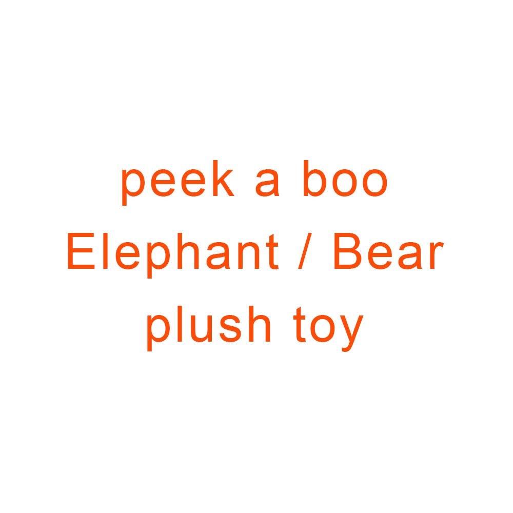 Música elefante/oso de peluche de juguete